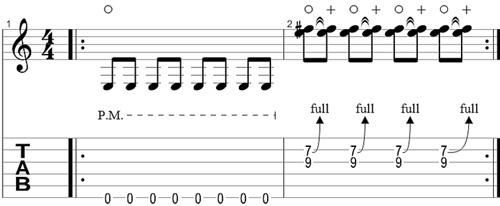 Wah pedal rhythm riff 2