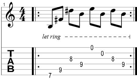 Wah pedal lick 2