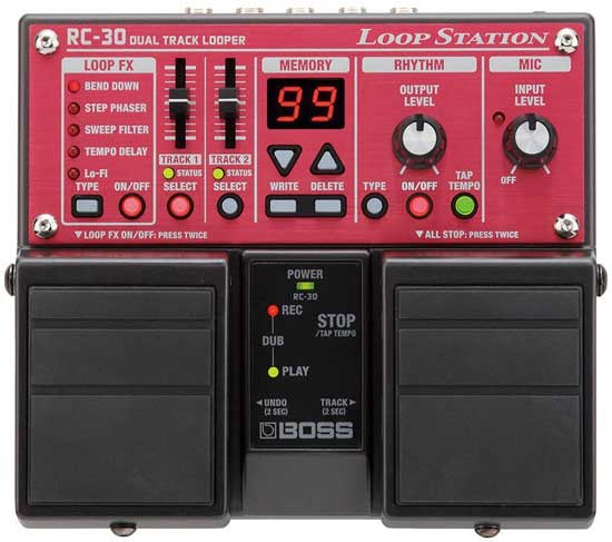 The BOSS RC-30 is a loop pedal filled with useful features worth checking out