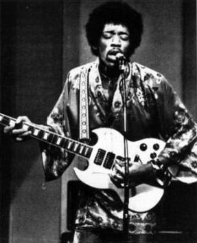Jimi Hendrix with a Gibson SG