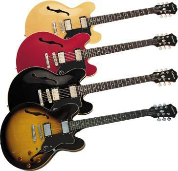 Epiphone Dot color options