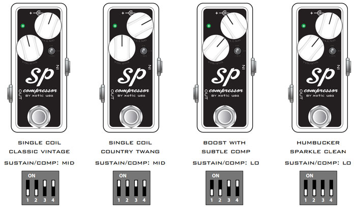 Xotic SP Compressor Settings
