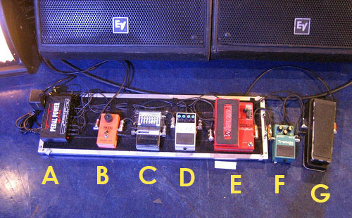Tom Morello's Audioslave Pedalboard