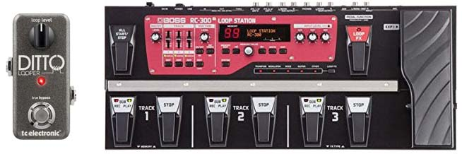 Ditto and RC300 Looper Pedals
