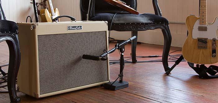 Guitar amp on the floor
