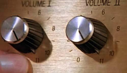 Guitar amp set to 11