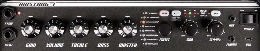 Fender Mustang Guitar Amp Settings