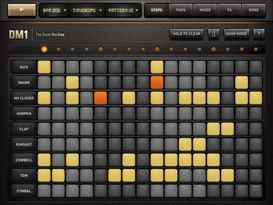 Drum Machine app on iOS