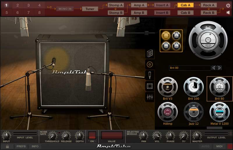 AmpliTube 4 cabinets