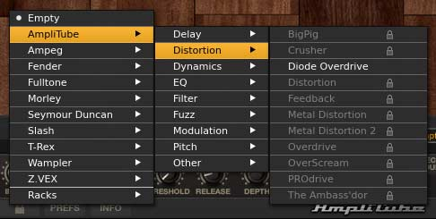 AmpliTube 4 distortion