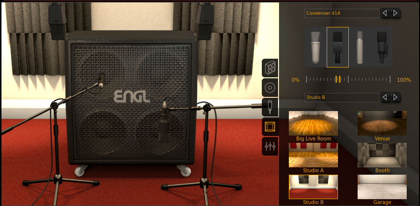 AmpliTube 4 Room Settings