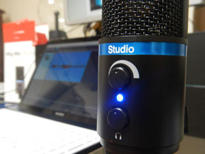 iRig Mic Studio with laptop
