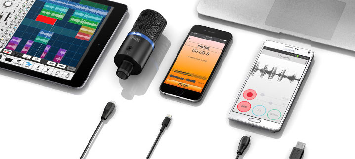 iRig Mic Studio connections
