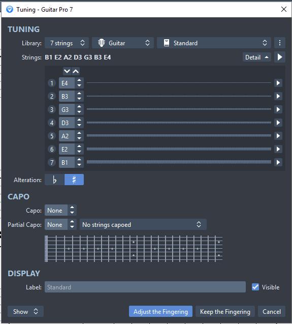 Guitar Pro 7.5 tuning update