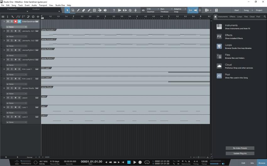 Importing MIDI tracks