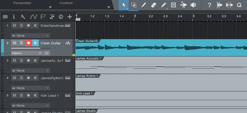 Recorded Audio in DAW