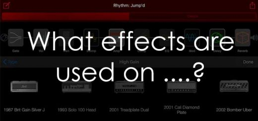 Guitar Effects Used on Songs