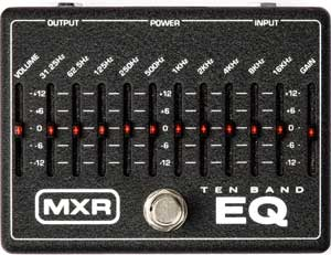 MXR 10-band EQ pedal for acoustic guitar