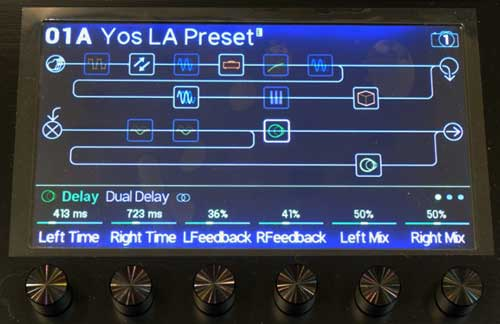Line 6 Helix Delay Screen