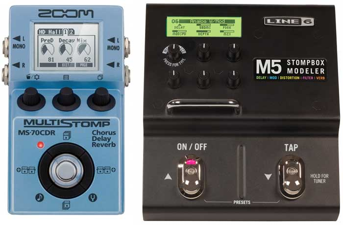 Multieffects pedal delay