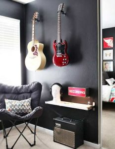 Enjoyable Setting Up An Ideal Guitar Practice Space Guitar Gear Finder Onthecornerstone Fun Painted Chair Ideas Images Onthecornerstoneorg