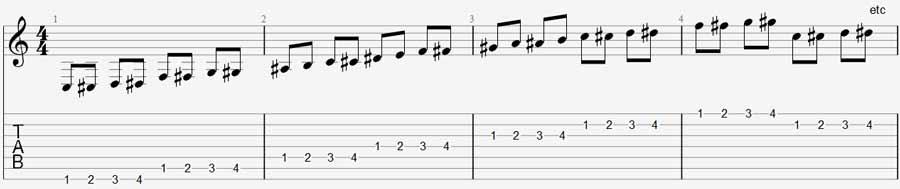7 string guitar exercise 1