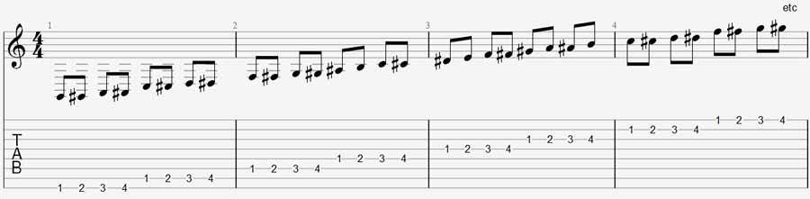 8 string guitar exercise 1