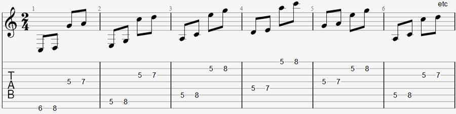 8 string guitar exercise 2b