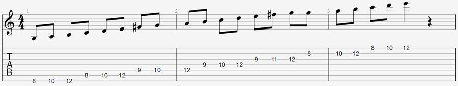 7 string guitar exercise 4a