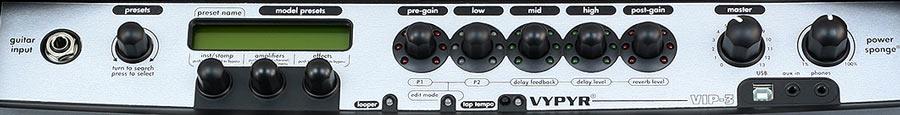 Peavey Vypyr VIP 3 settings panel