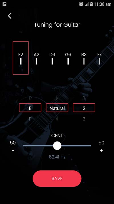 Roadie 2 App Custom Tunings
