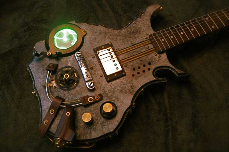 Steampunk guitar 1