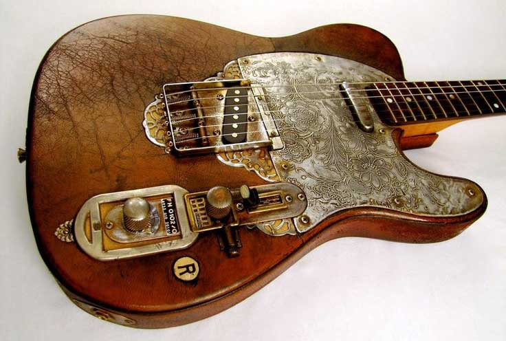 Steampunk guitar 10
