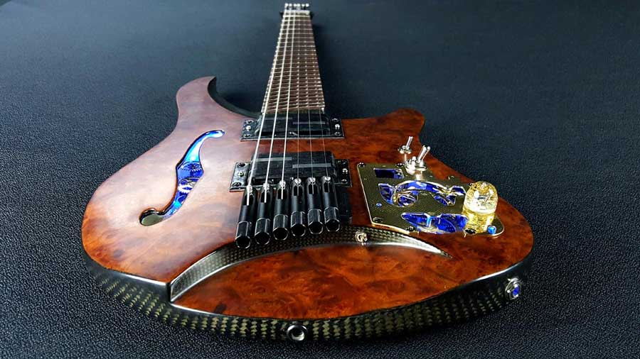 Steampunk guitar 4