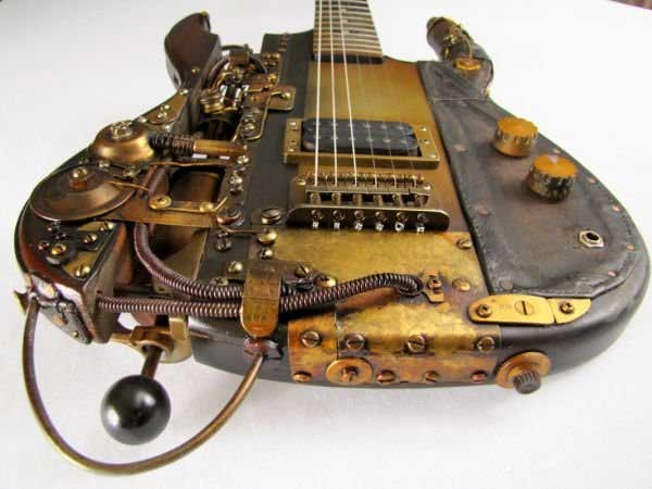 Steampunk guitar 5