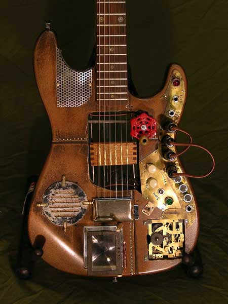 Steampunk guitar 6
