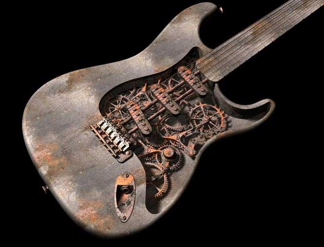 Steampunk guitar 7