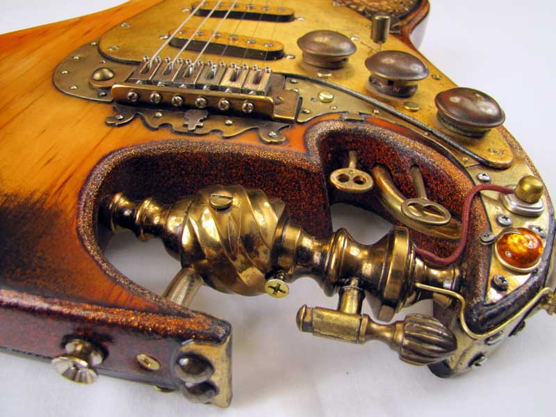 Steampunk guitar 8