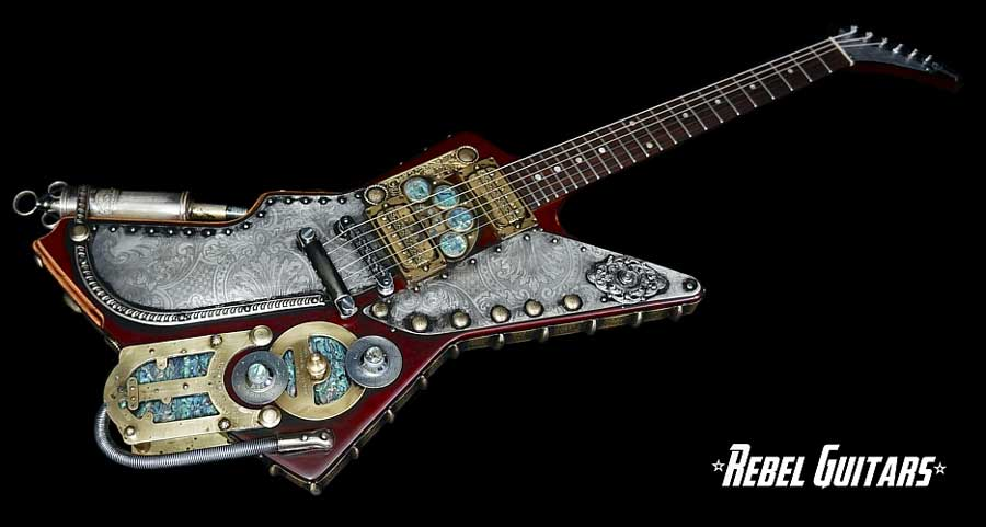 Steampunk guitar 9