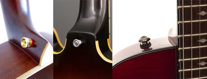 Guitar strap buttons