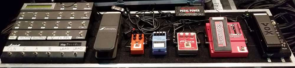 Joe Satriani's Pedalboard in 2018