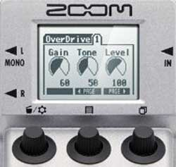 ZOOM Multistomp screen