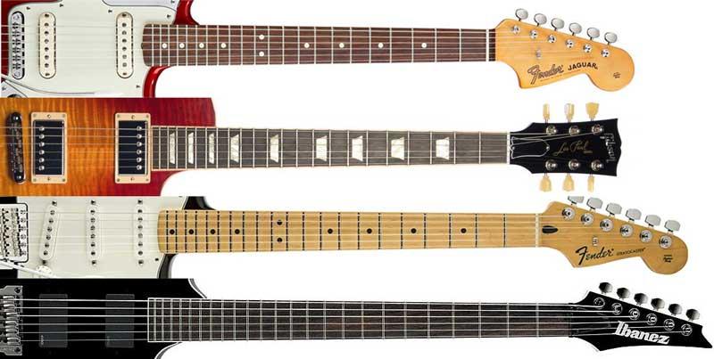 Guitar scale length comparison