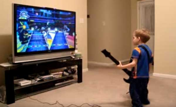 3 Year Old Guitar Hero
