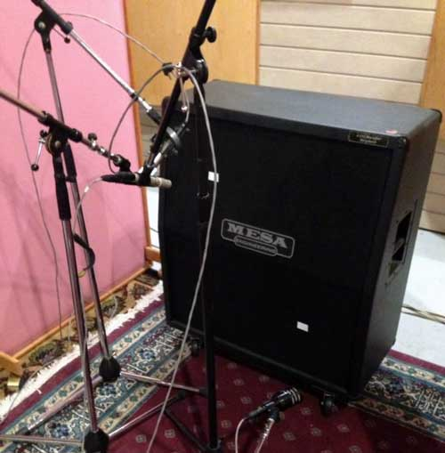 Mesa cab in studio