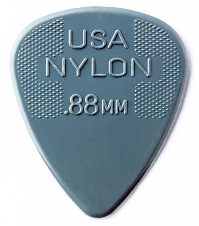 Nylon guitar pick