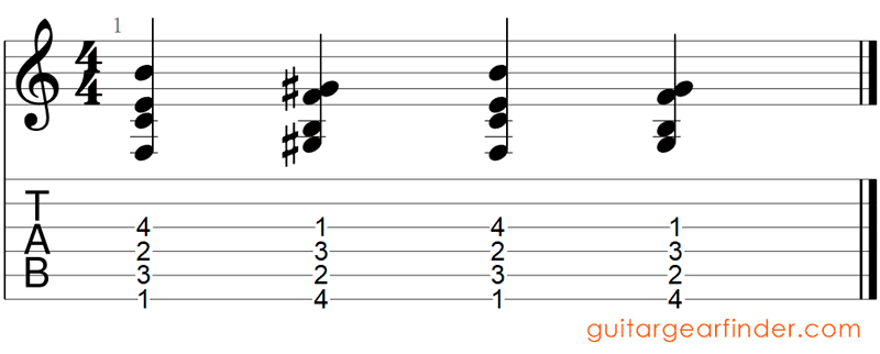 4B Advanced Chord Flipping Exercise