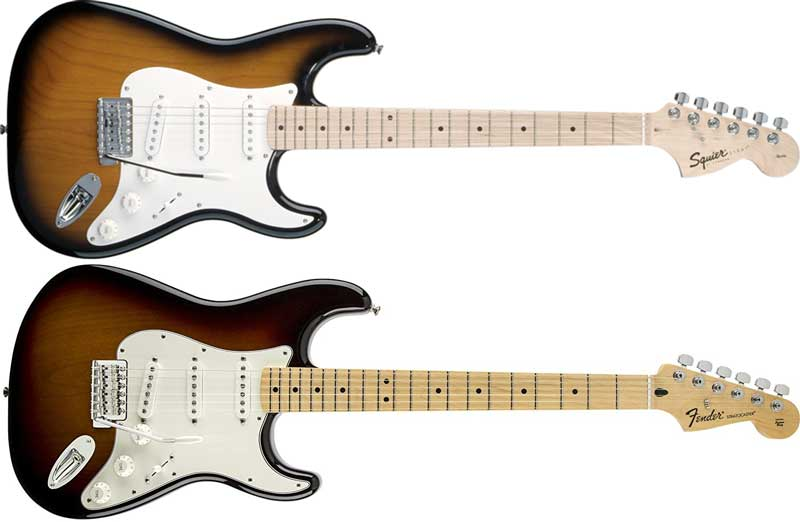 Fender vs Squier Stratocaster