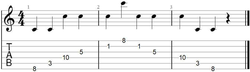 Find a note guitar scale exercise 2