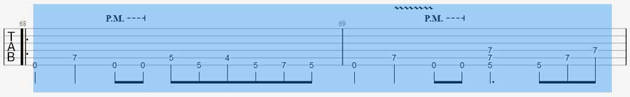 Highlighted rhythm in Guitar Pro 7